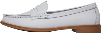Onfire Womens Leather Penny Loafers White
