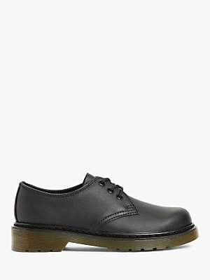 Dr. Martens Children's 1461 3-Eye Lace Up Brogues, Black Leather