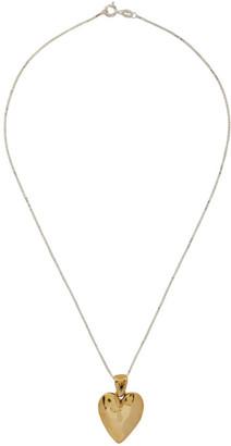 MONDO MONDO Gold and Silver Heart Necklace