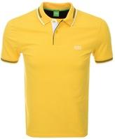 BOSS GREEN Paul Jersey Polo T Shirt Yellow