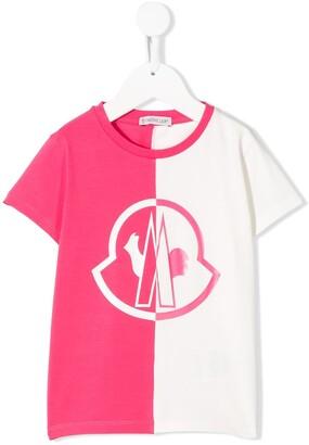 Moncler Enfant colour-block relaxed-fit T-shirt