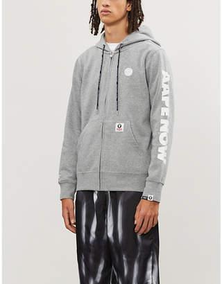 Aape Branded zip-up jersey hoody