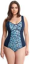 Elomi Womens Abalone Underwire Moulded Swimsuit