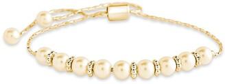 Sterling Forever Faux Pearl Slider Bracelet