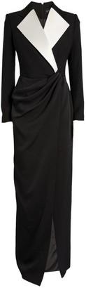 Rasario Contrast Wrap Gown