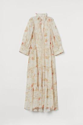 H&M Lyocell-blend Dress - White