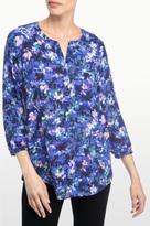 NYDJ Velvet Bouquet Print 3/4 Sleeve Blouse