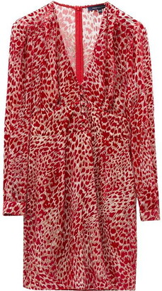 French Connection Adelma Devore Leopard Print Dress
