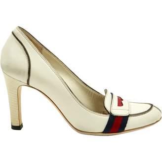 Gucci \N White Leather Heels