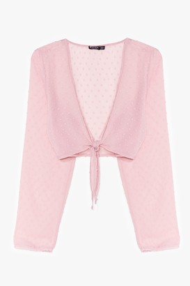 Nasty Gal Womens I Sheer Can Plunging Tie Blouse - Pink - 10