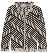 Sonia Rykiel Fringed Striped Cotton-Blend Jacket