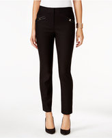 Thalia Sodi Faux-Leather-Trim Skinny Pants, Only at Macy's