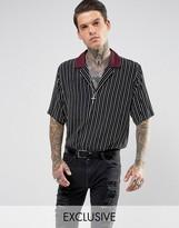 Reclaimed Vintage Inspired Revere Shirt In Reg Fit