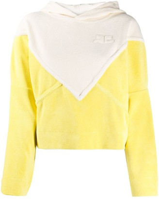 Courreges Panelled Cotton Hoodie