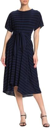 Gabby Skye Short Sleeve Striped Dress