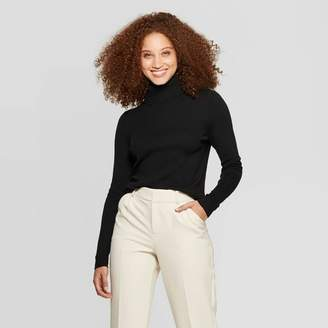 A New Day Women's Long Sleeve Rib Turtleneck Sweater