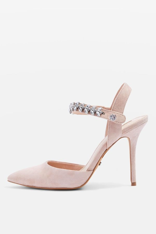 Topshop GEM Embellished Court Shoes