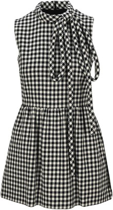 RED Valentino Checked Bow Dress