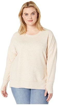 Jockey Active Plus Size Fleece Sweatshirt with Thumbholes