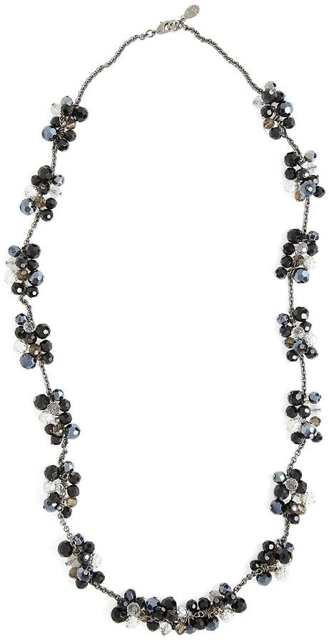 Brooks Brothers Austrian Crystal Cluster Necklace