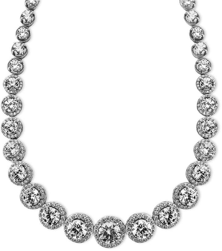 Arabella Sterling Silver Necklace, Swarovski Zirconia Necklace (55-1/3 ct. t.w.)