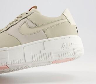 Nike Force 1 Pixel Trainers Stone Bone Summit White Pale Coral Summit White