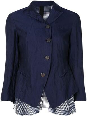 Forme D�expression Shrunken Checked Layer Jacket