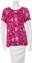 Tory Burch Printed Short Sleeve Top