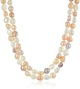 Bella Pearl Natural Multicolored Pearl Endless Strand Necklace, 62""
