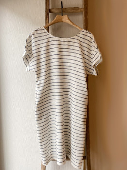 Mat De Misaine - Striped Button Back Dress - 12