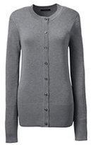 Classic Women's Plus Cotton Modal Contrast Trim Cardigan Sweater-True Blue