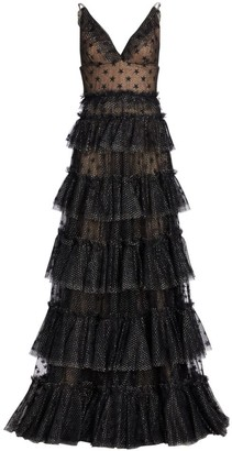Ralph And Russo Multi Tiered Sheer Star Gown