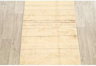"BEIGE Isabelline One-of-a-Kind Lisbeth Gabbeh Zolanvari Persian Modern Hand-Knotted 2'10"" x 6'5"" Wool Area Rug Isabelline"