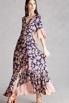 Forever 21 FOREVER 21+ Selfie Leslie Floral Wrap Dress