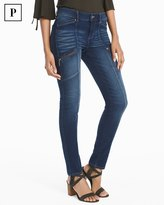 White House Black Market Petite Mid-Rise Skinny Ankle Utility Jeans