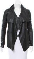 Mackage Leather Open Front Jacket