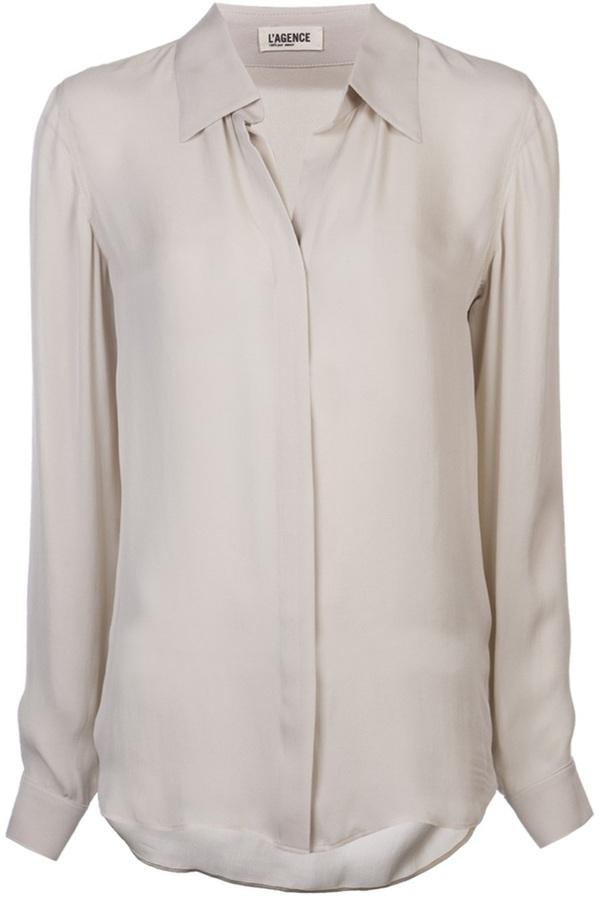 L'Agence long sleeve blouse