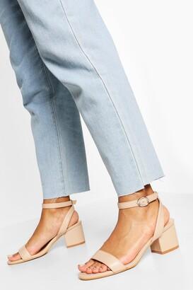 boohoo Wide Fit Basic Low Block Heel