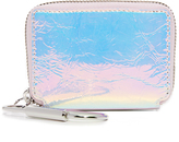 Kara Crinkled Hologram Small Zip Pouch
