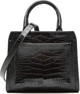 Victoria Beckham Snake-Embossed Patent Leather Shoulder Bag