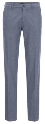 BOSS Regular-fit chinos in micro-patterned stretch cotton