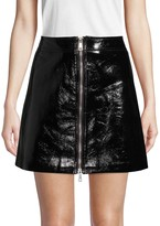 Penelope Front-Zip Mini Skirt