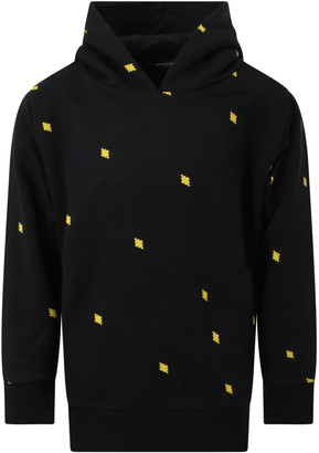 Marcelo Burlon County of Milan Black Sweatshirt For Kids With Iconic Cross