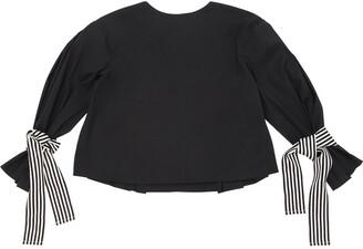 Cotton Poplin Shirt W/ Striped Ties