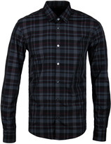 Boss Reid Maroon & Charcoal Grey Checked Long Sleeve Shirt