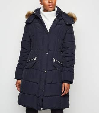 New Look Blue Vanilla Longline Puffer Jacket