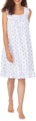 Eileen West Floral Print Short Nightgown