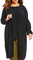 Eileen Fisher Plus Classic Collar Long Duster