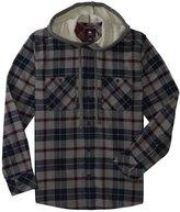 Quiksilver Men's Puffer Hooded Long Sleeve Shirt 8120729