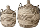 Lene Bjerre Nancy Basket Set Natural & Black